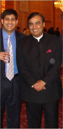 Me and Billionaire Mukesh Ambani, Fourth Richest Man In The World